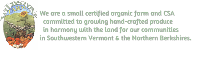 Wildstone Farm- A small certified organic farm located in Southwestern Vermont dedicated to growing hand-crafted produce in harmony with the land.